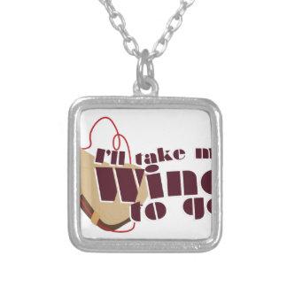 Wine to Go Square Pendant Necklace