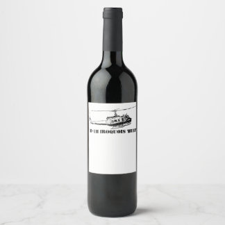 Wine UH-1H Iroquois Helicopter Wine Label