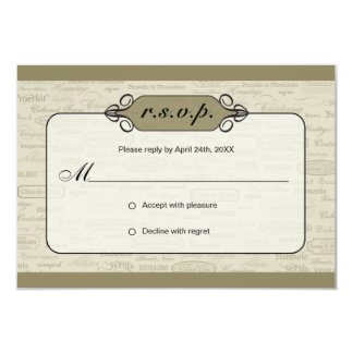 Wine Varietal and Whimsical Bottle RSVP Card 2 9 Cm X 13 Cm Invitation Card
