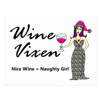 "Wine Vixen ""Nice & Naughty"" Holiday Postcard"