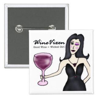 "Wine Vixen ""Wicked Girl"" 15 Cm Square Badge"