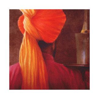 Wine Waiter at the Taj Canvas Print