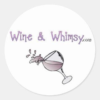 Wine & Whimsy Classic Round Sticker