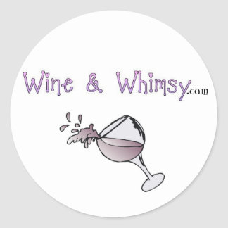 Wine & Whimsy Round Sticker