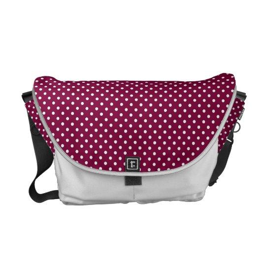 Wine & White polka dot bag Commuter Bags