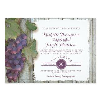 Wine Winery Vineyard Grape Theme Fall Wedding 13 Cm X 18 Cm Invitation Card