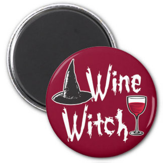 Wine Witch Refrigerator Magnets