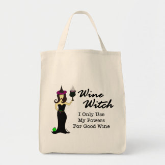 Wine Witch Shopping Bag