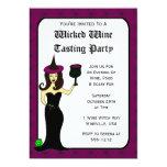 Wine Witch Wicked Wine Tasting Halloween Invites 13 Cm X 18 Cm Invitation Card