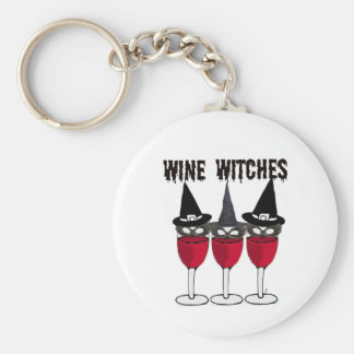 WINE WITCHES RED WINE GLASS WITCH PRINT KEY RING