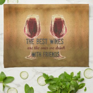 Wine with Friends Kitchen Towels