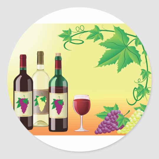 Wine With Grapes Stickers