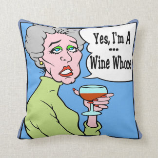 Wine WOMAN Cushion