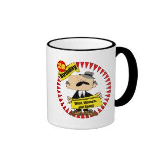 Wine Women Song 35th Birthday Gifts Ringer Coffee Mug