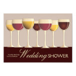 Wineglass Selection Couples Wedding Shower Personalized Announcement