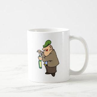 Winemaker 08 ~ Uncorking Bottle ~ Basic White Mug