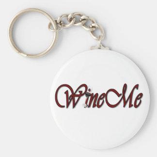 WineMe Basic Round Button Key Ring