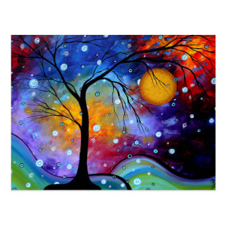 Winer Sparkle Circle of Life MADART Painting Post Card