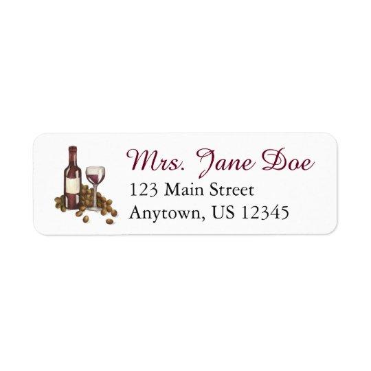 Winery Glass Bottle Wine Winery Address Labels