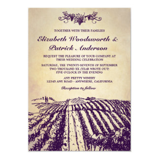 Winery Tuscan Vintage Vineyard Wedding Invitations