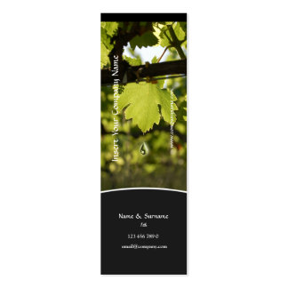 Winery vineyard grape business profile skinny Double-Sided mini business cards (Pack of 20)