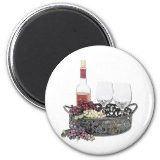 WineServingTray Refrigerator Magnets