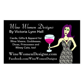 WineWomenDesigns.com featuring Wine Vixen Double-Sided Standard Business Cards (Pack Of 100)