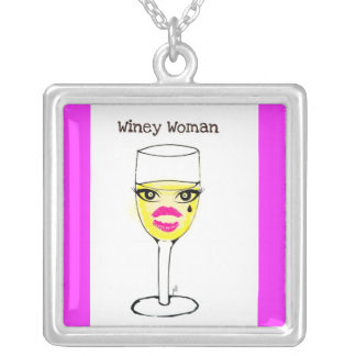WINEY WOMAN WINE GLASS PRINT JEWELRY