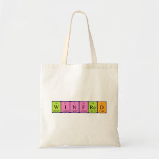 Winfred periodic table name tote bag