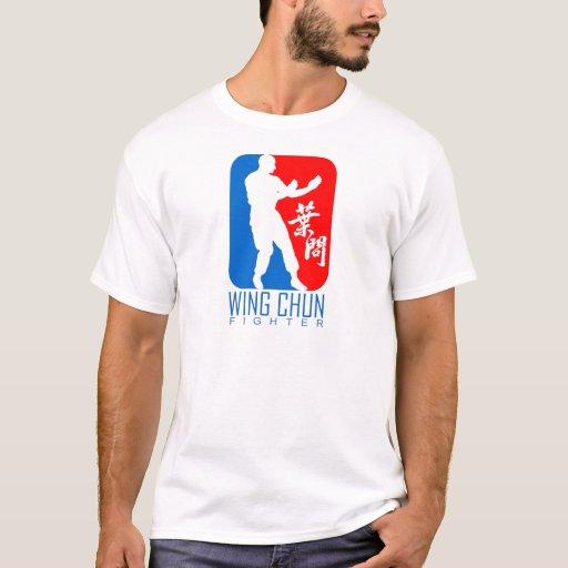 Wing Chun Fighter (redblue) Ip Man Linage T-shirt