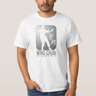 Wing Chun Fighter (Silver) T-Shirt