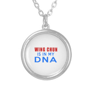 WING CHUN IS IN MY DNA ROUND PENDANT NECKLACE