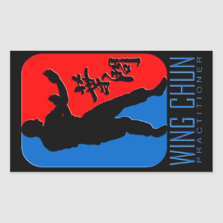 "Wing Chun ""Practitioner"" Emblem Rectangular Sticker"