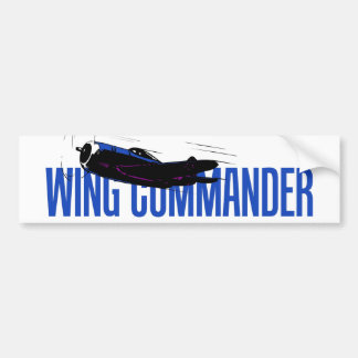 Wing commander. Aviation gift for airplane pilot Bumper Sticker