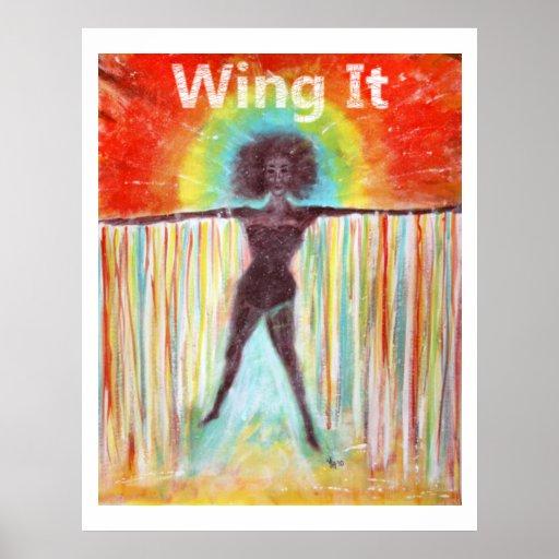 """Wing It"" Art Poster"