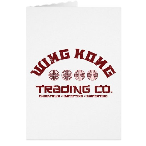 wing kong trading co. big trouble in little china card