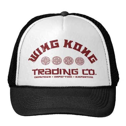 wing kong trading co. big trouble in little china mesh hat