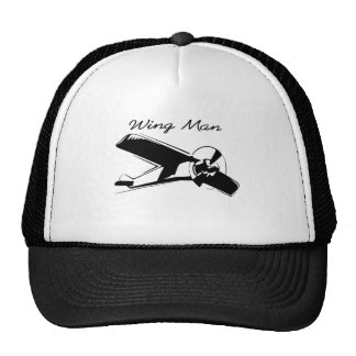 wing man is the best man mesh hats