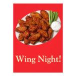 Wing Night Personalized Invitation