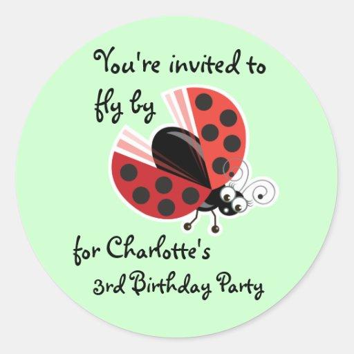 Wing-Nutz™_Ladybug (Dotty)_ 3rd Birthday Party Sticker