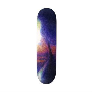 Wing of a plane skateboard deck