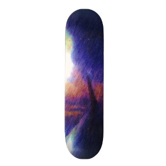 Wing of a plane skate board deck