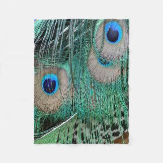 Wing of the Peacock Fleece Blanket