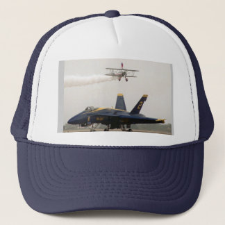 Wing Walker over Angel Trucker Hat