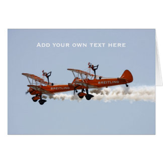 Wing Walkers aerobatic display team Card