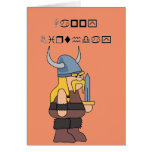 Wingding Viking Happy Birthday Greeting Card
