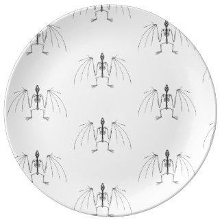 Winged 2 Skeleton Plate Porcelain Plates
