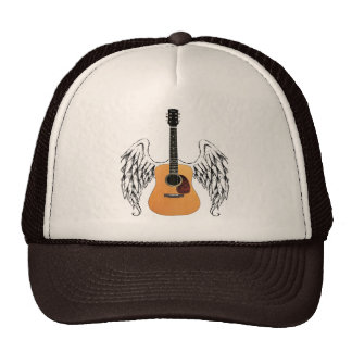 Winged Acoustic Guitar Mesh Hat