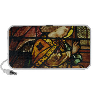 Winged angel in stained glass window iPhone speaker