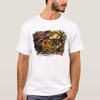 Winged angel in stained glass window T-Shirt